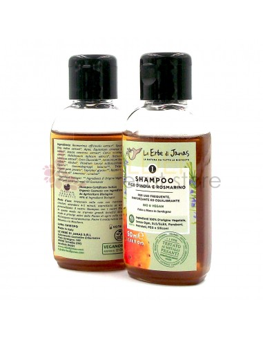 Le Erbe di Janas Shampoo Uso Frequente Fico d'India e Rosmarino