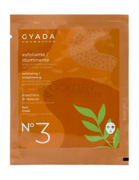 Gyada Maschera in Tessuto Esfoliante / Illuminante N.3