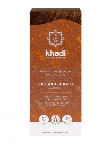 Khadi Tinta Naturale Golden Brown (Castano Dorato)