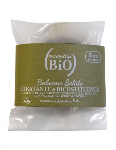 Parentesi Bio Balsamo Solido Idratante e Ricostituente con Oliva, Castagna, Altea, Spirulina, Moringa, Katira e Acido Ialuronico