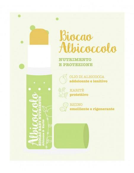 La Saponaria Biocao Balsamo Labbra all'Albicocca