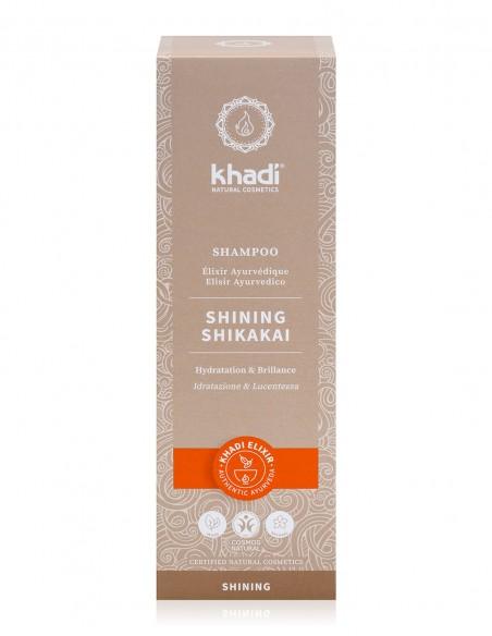 Khadi Shampoo Elisir Ayurvedico Shining Shikakai Idratazione e Lucentezza